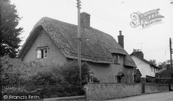 Tilshead, Thatched Cottage c.1955