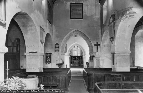 Photo of Tilshead, The Church Interior c.1965