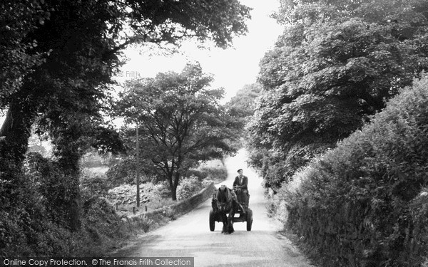 Photo of Timbersbrook, Horse And Cart In Weathercock Lane c.1950