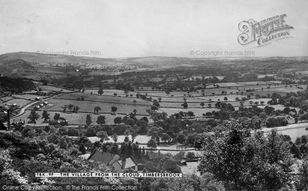 Photo of Timbersbrook, The Village From The Cloud c.1955