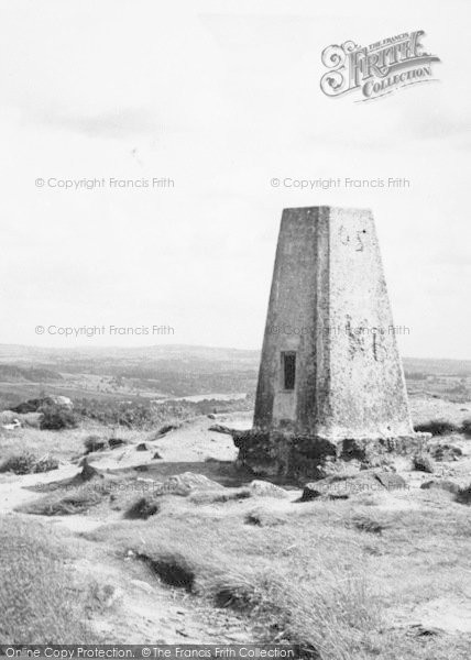 Photo of Timbersbrook, Trig Pillar On The Summit Of The Cloud c.1955