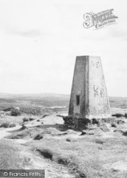 Trig Pillar On The Summit Of The Cloud c.1955, Timbersbrook