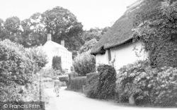 Great Holise Lane c.1955, Timberscombe