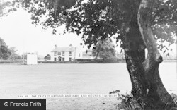 Timperley, The Cricket Ground And Hare And Hounds c.1955