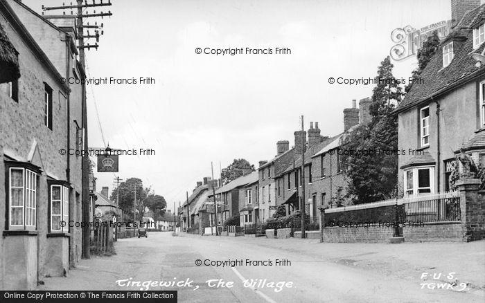 Photo of Tingewick, The Village c.1950