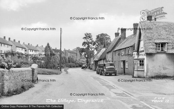 Photo of Tingewick, The Village c.1955