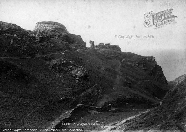 Photo of Tintagel, 1894
