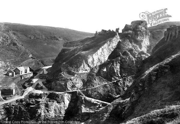 Photo of Tintagel, 1895