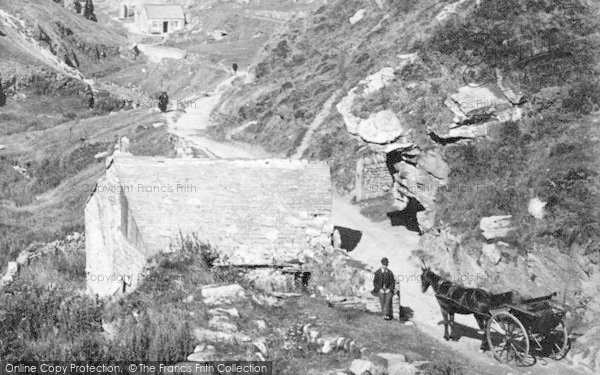 Photo of Tintagel, A Man And A Horse Carriage 1895