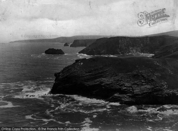 Photo of Tintagel, Barras Head And The Coast 1894