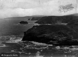 Tintagel, Barras Head And The Coast 1894