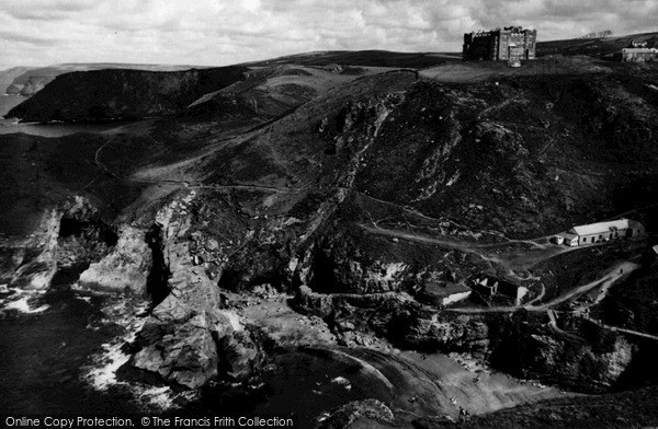 Photo of Tintagel, Barras Head And The Hotel c.1960