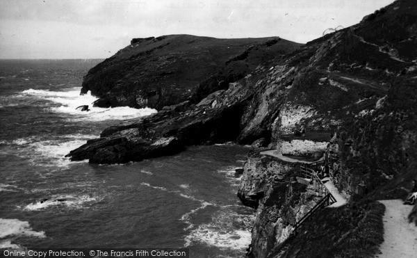 Photo of Tintagel, Barras Head c.1955