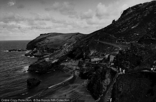 Photo of Tintagel, Barras Head c.1960