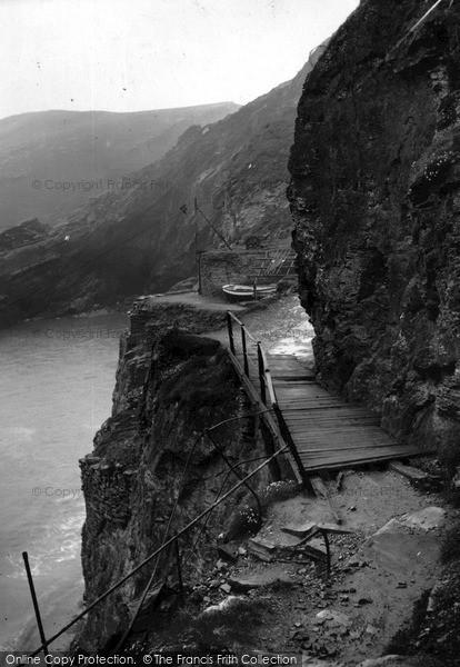 Photo of Tintagel, Bridge To The Castle c.1955