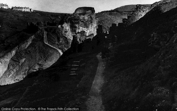 Photo of Tintagel, Castle Ruins c.1955