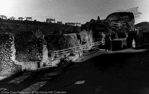 Photo of Tintagel, Castle Ruins c.1955