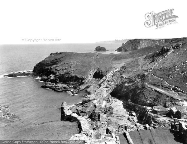 Photo of Tintagel, Cliffs From The Castle c.1955