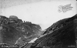 Tintagel, From Entrance To Valley c.1871