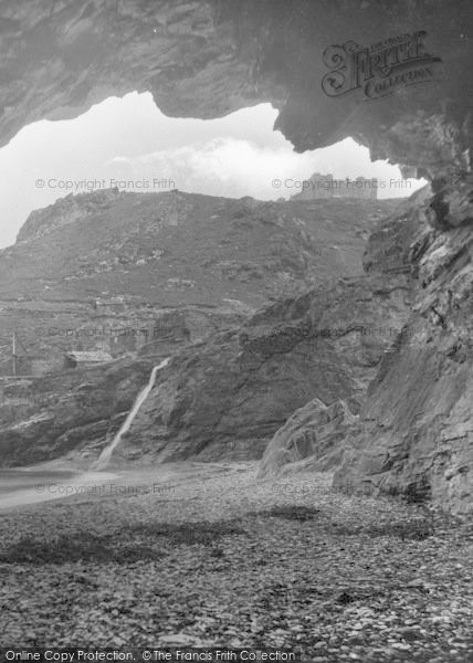 Photo of Tintagel, From Merlin's Cave 1920