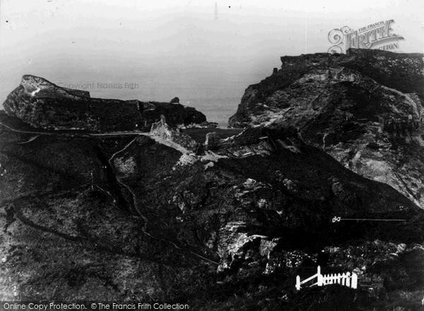 Photo of Tintagel, King Arthur's Castle And Island Keep c.1955