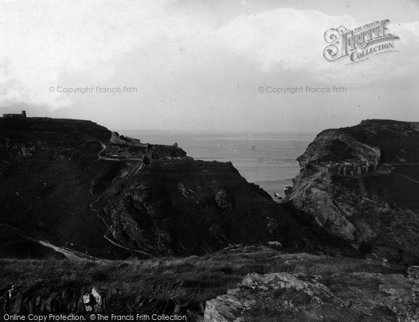 Photo of Tintagel, King Arthur's Castle And Profile Rock 1933