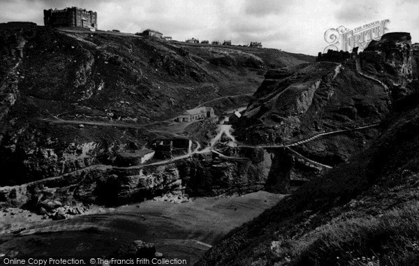 Photo of Tintagel, King Arthur's Castle And The Hotel c.1960