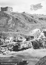 King Arthur's Castle And The Hotel c.1960, Tintagel