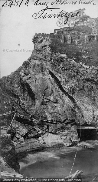 Photo of Tintagel, King Arthur's Castle c.1870