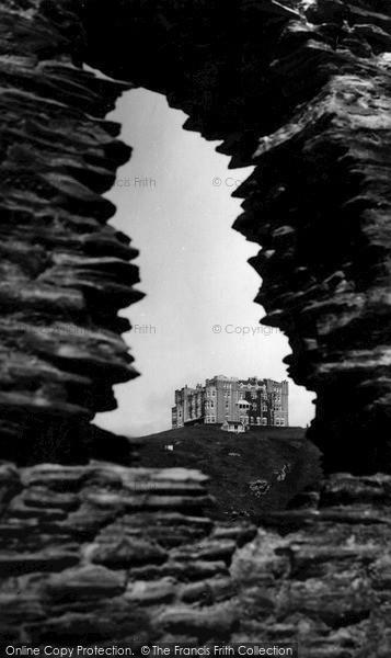 Photo of Tintagel, King Arthur's Castle c.1955