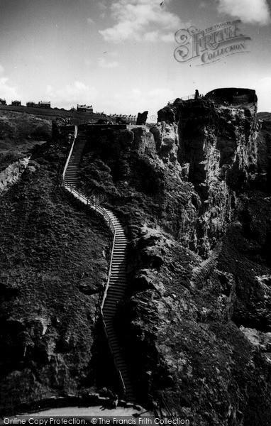 Photo of Tintagel, King Arthur's Castle c.1960