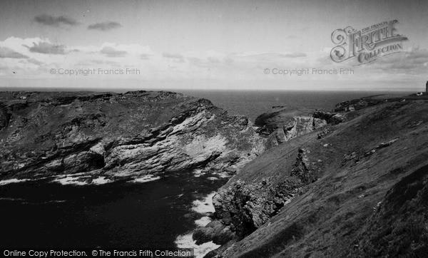 Photo of Tintagel, King Arthur's Castle From Glebe Cliff c.1960