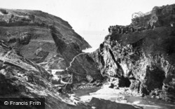 King Arthur's Castle From The West c.1930, Tintagel
