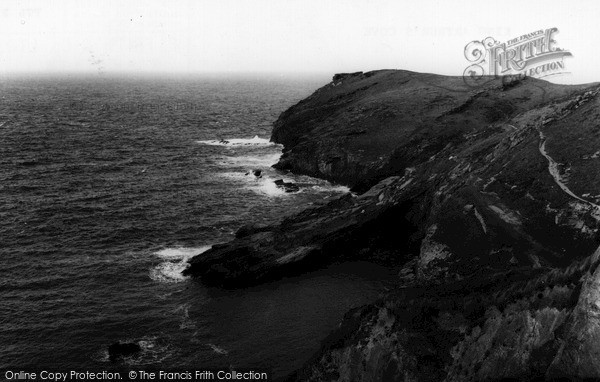 Photo of Tintagel, King Arthur's Cove c.1960