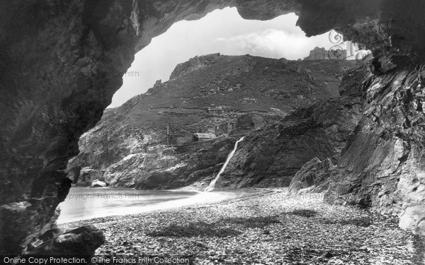 Photo of Tintagel, Merlin's Cave 1920