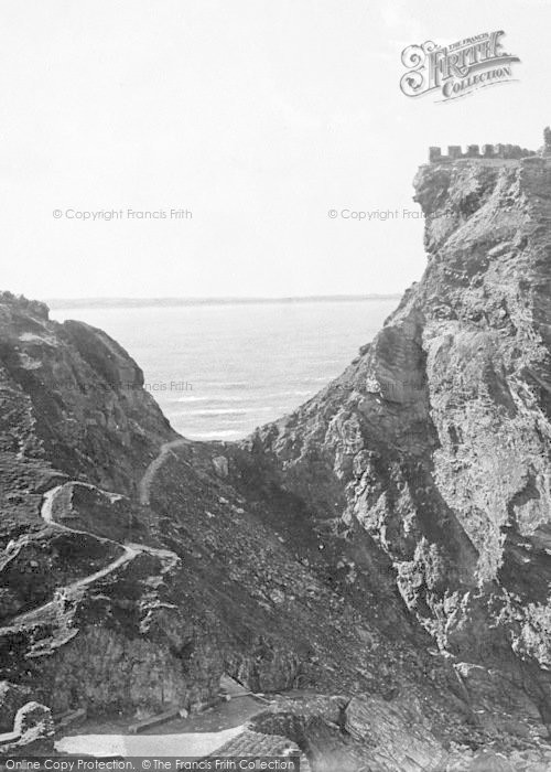 Photo of Tintagel, Narrow Crossing To The Castle 1894