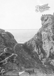 Narrow Crossing To The Castle 1894, Tintagel
