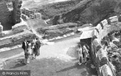 People At Castle Entrance 1936, Tintagel