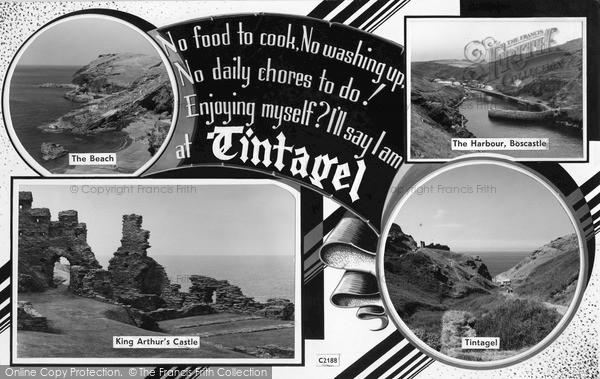 Photo of Tintagel, Postcard Design 1961