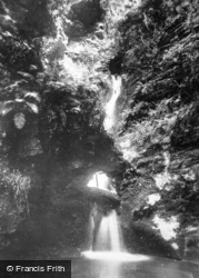 St Knighton's Kieve Waterfall c.1930, Tintagel