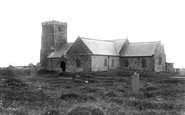 Tintagel, St Materiana's Church 1894
