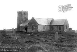 Tintagel, St Materiana's Church 1894