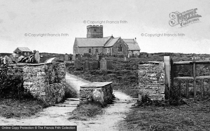 Photo of Tintagel, St Materiana's Church And  Cornish Stile c.1900