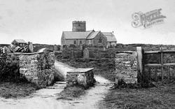 St Materiana's Church And  Cornish Stile c.1900, Tintagel