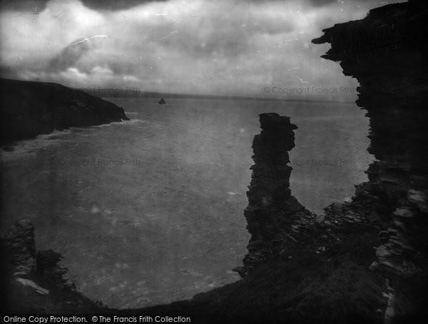 Photo of Tintagel, St Materiana's Church And Glebe Cliff 1920