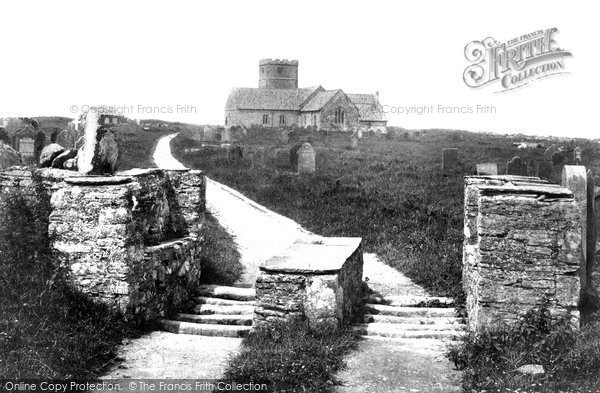 Photo of Tintagel, St Materiana's Church And Stile 1906