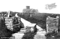 Tintagel, St Materiana's Church And Stile 1906