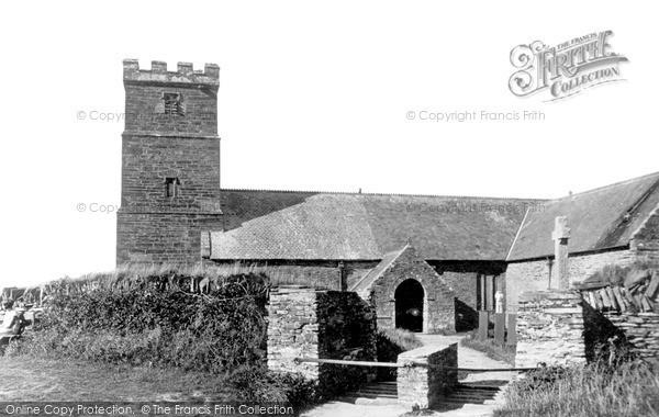 Photo of Tintagel, St Materiana's Church c.1955