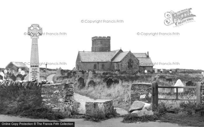 Photo of Tintagel, St Materiana's Church c.1955