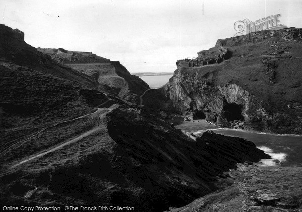 Photo of Tintagel, The Castle And Caves c.1955